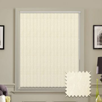 Vertical blinds - Made to Measure vertical blind in Cleo Cream